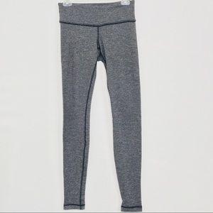 Lululemon Wonder Unders Striped Grey Blk Size 6